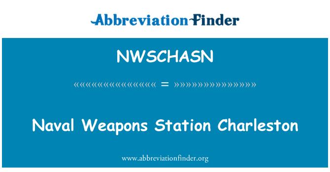 NWSCHASN: Naval Weapons Station Charleston