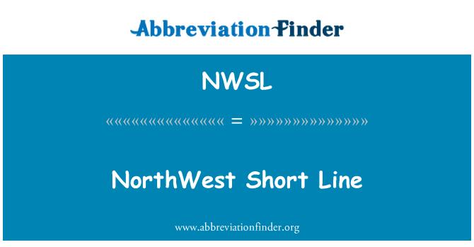 NWSL: NorthWest Short Line