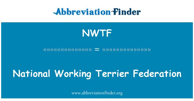 NWTF: Nacional Federación de Terrier de trabajo