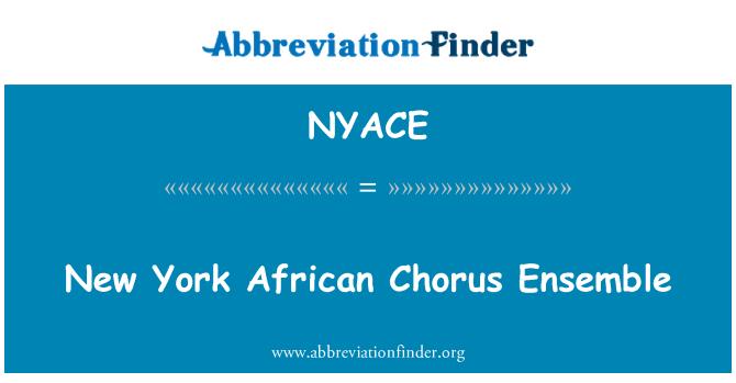 NYACE: New York African Chorus Ensemble