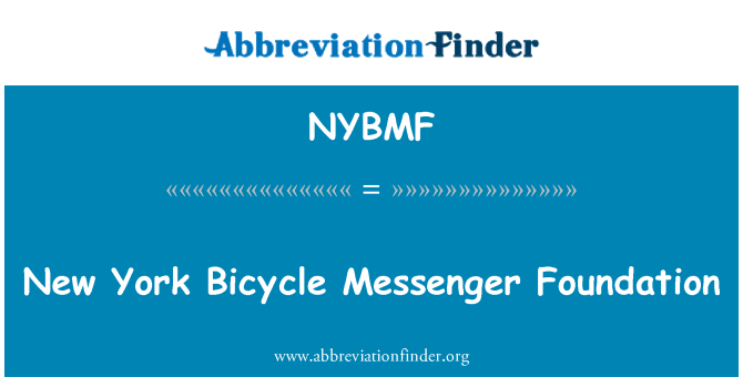 NYBMF: New York Bicycle Messenger Foundation