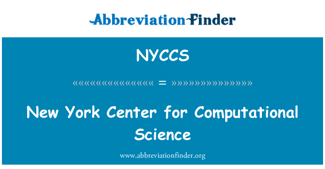 NYCCS: New York Center for Computational Science