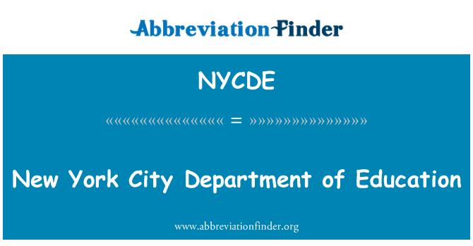 NYCDE: New York City Department of Education