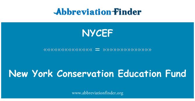 NYCEF: New York Conservation Education Fund