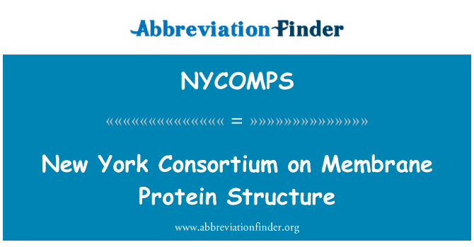 NYCOMPS: New York Consortium on Membrane Protein Structure