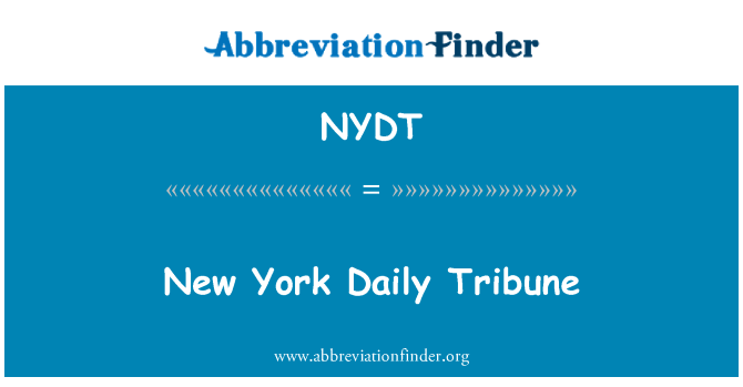 NYDT: New York Daily Tribune