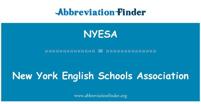 NYESA: New York English Schools Association