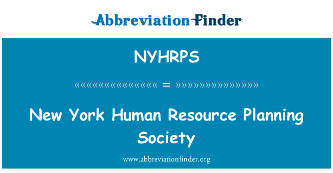 NYHRPS: New York Human Resource Planning Society