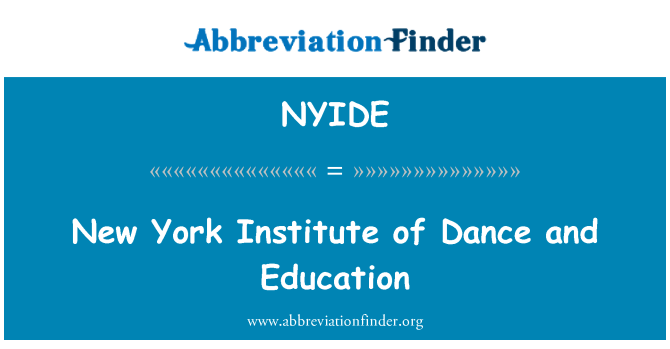 NYIDE: New York Institute of Dance and Education