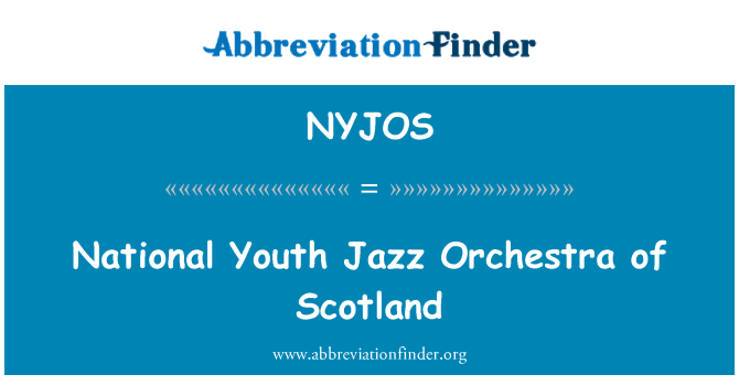 NYJOS: National Youth Jazz Orchestra of Scotland