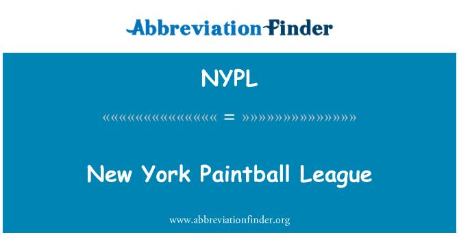 NYPL: New York Paintball Ligi