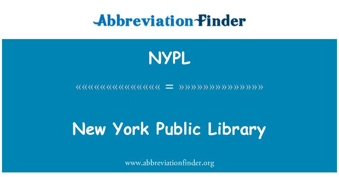 NYPL: New York Halk Kütüphanesi