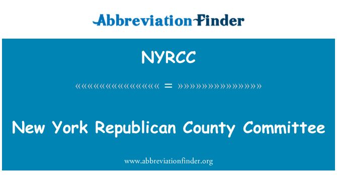 NYRCC: New York Republican County Committee