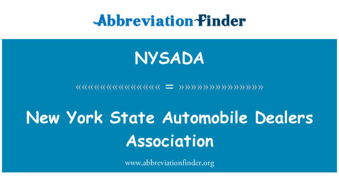 NYSADA: New York State Automobile Dealers Association