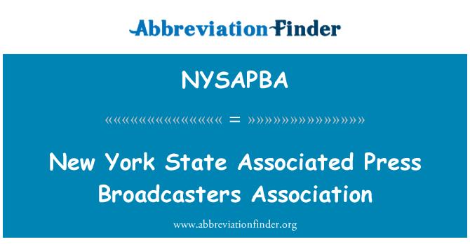 NYSAPBA: Státu New York Associated Press Broadcasters Association
