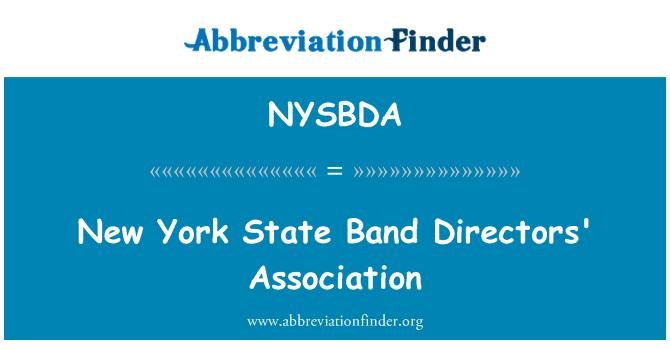 NYSBDA: New York State Band Directors' Association