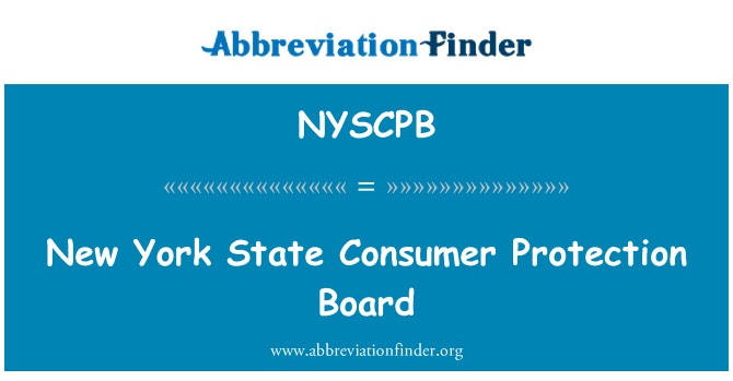 NYSCPB: New York State Consumer Protection Board