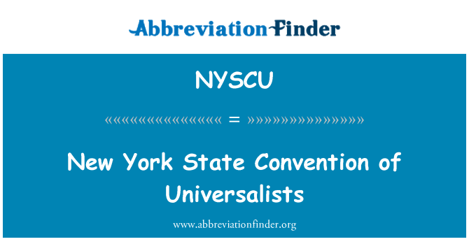 NYSCU: New York State Convention of Universalists