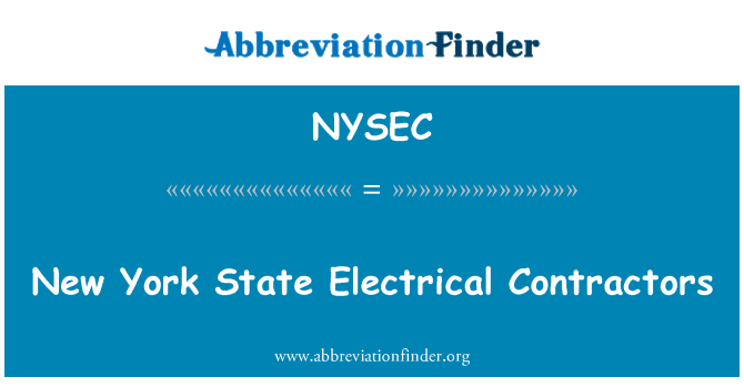 NYSEC: New York State Electrical Contractors