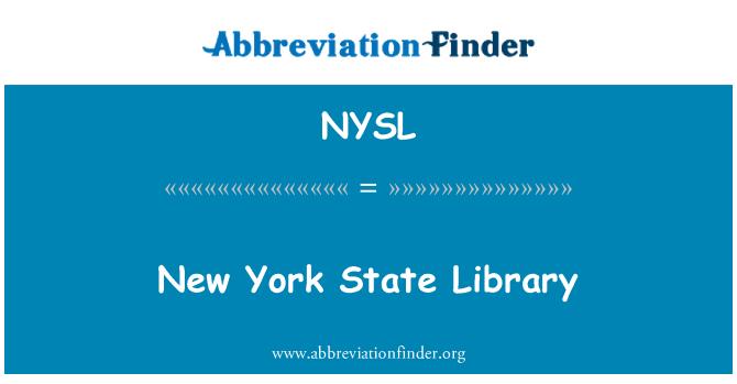 NYSL: New York Eyalet Kütüphanesi