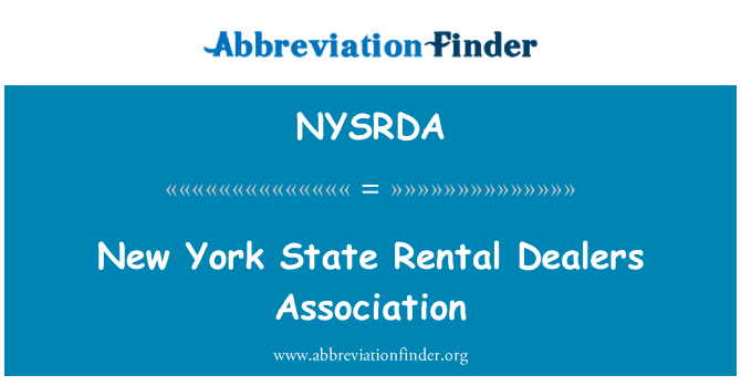 NYSRDA: New York State Rental Dealers Association