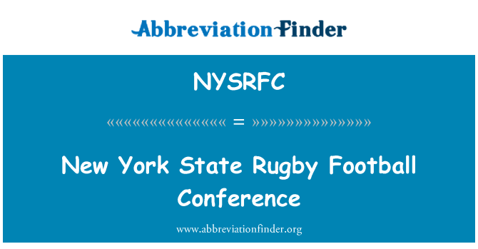 NYSRFC: New York State Rugby Football Conference