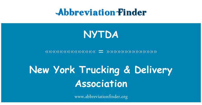 NYTDA: New York Trucking & Delivery Association