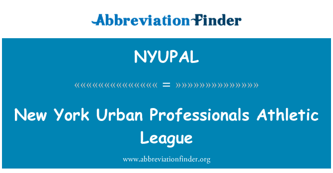 NYUPAL: New York Urban Professionals Athletic League