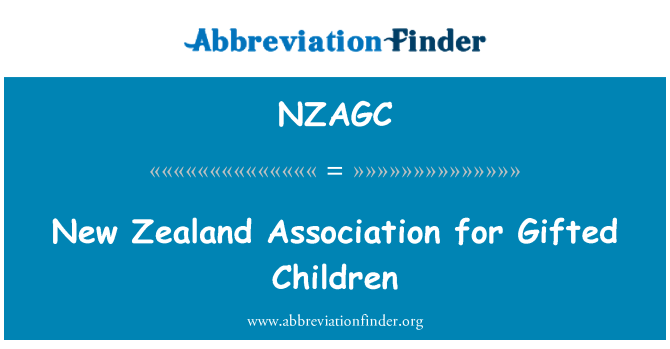 NZAGC: New Zealand Association for Gifted Children