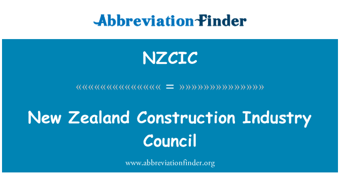 NZCIC: New Zealand Construction Industry Council