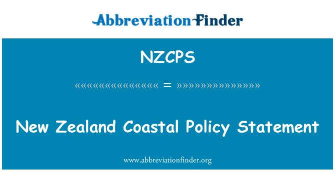 NZCPS: New Zealand Coastal Policy Statement