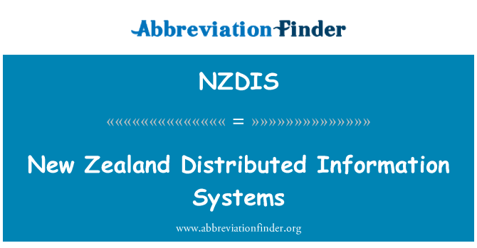 NZDIS: New Zealand Distributed Information Systems