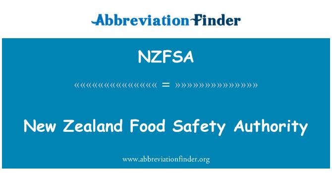 NZFSA: Autoridad de seguridad alimentaria de Nueva Zelanda