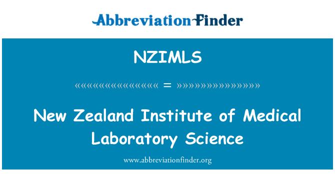 NZIMLS: New Zealand Institute of Medical Laboratory Science