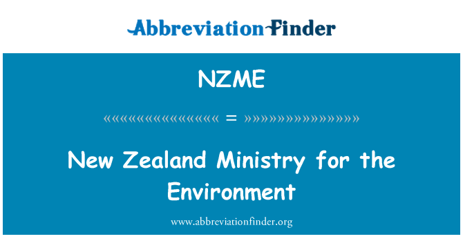 NZME: New Zealand Ministry for the Environment