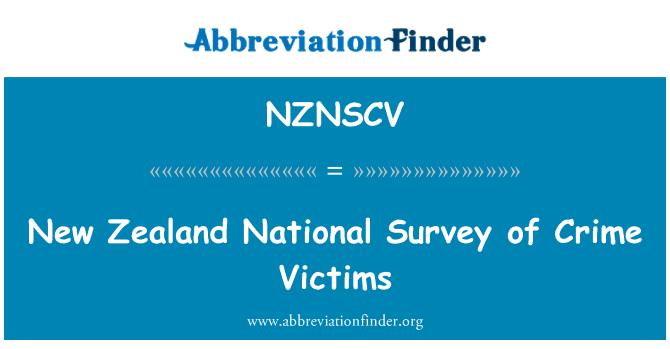NZNSCV: New Zealand National Survey of Crime Victims