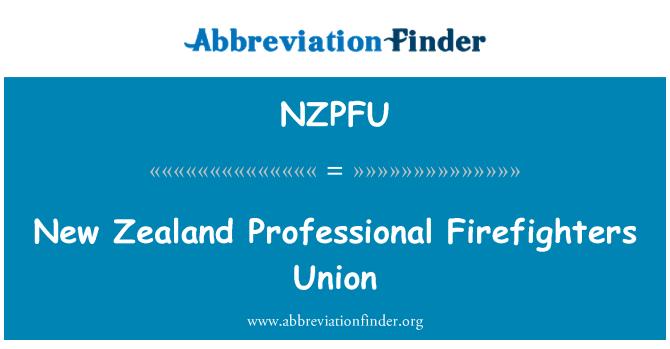 NZPFU: New Zealand Professional Firefighters Union