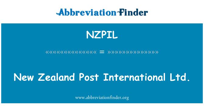 NZPIL: New Zealand Post International Ltd.