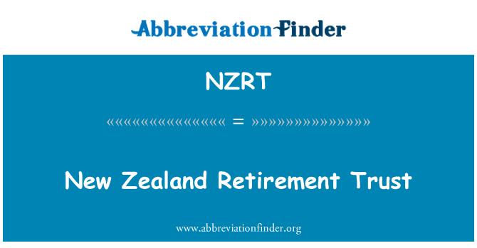NZRT: Yeni Zelanda emeklilik güven