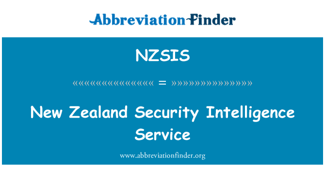 NZSIS: New Zealand Security Intelligence Service