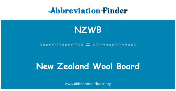 NZWB: Yeni Zelanda yünü kurulu