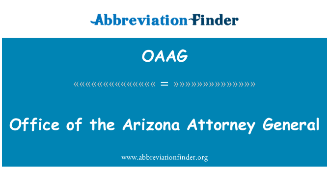 OAAG: Office of the Arizona Attorney General