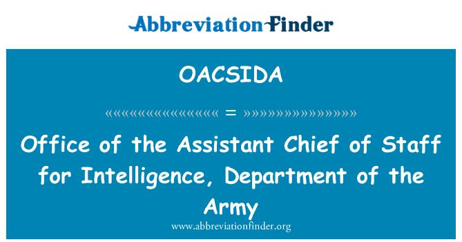 OACSIDA: 办公室负责情报,陆军部助理参谋长