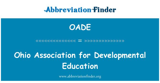 OADE: Ohio Association for Developmental Education