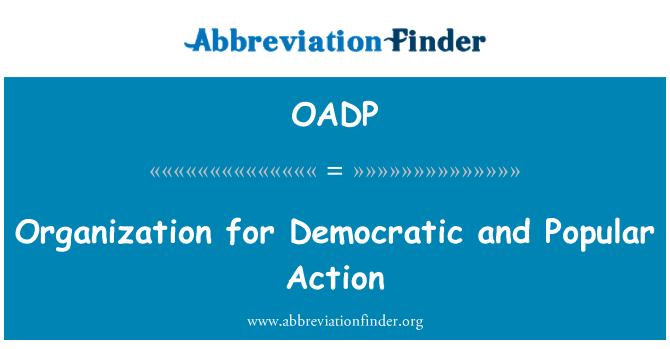 OADP: Organization for Democratic and Popular Action