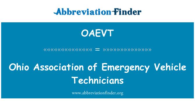 OAEVT: Ohio Association of Emergency Vehicle Technicians