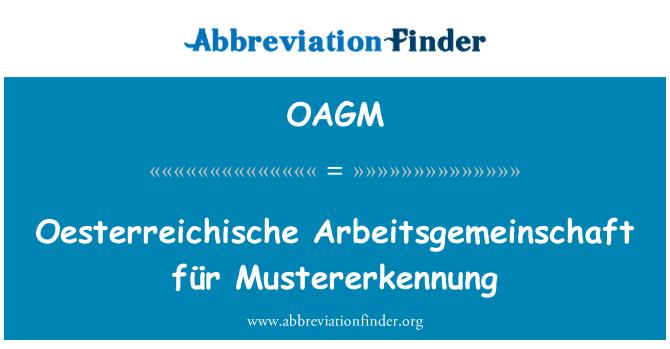 OAGM: Austria Arbeitsgemeinschaft für Mustererkennung