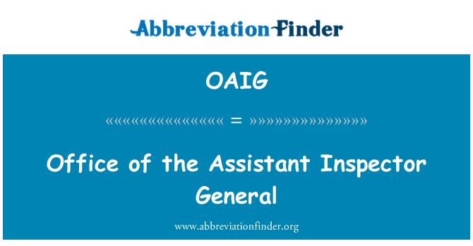 OAIG: 办公室助理总监