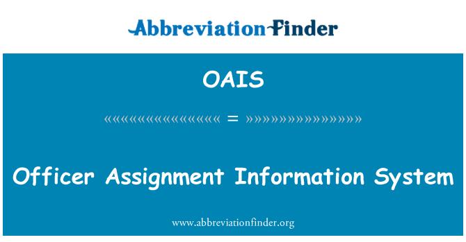 OAIS: Ametnik ülesande infosüsteemi