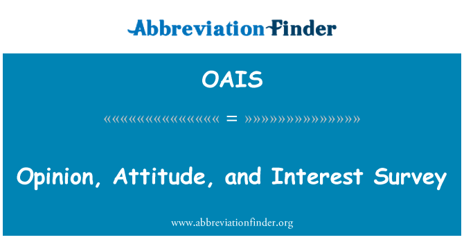 OAIS: Arvamus, suhtumine ja huvi uuringu